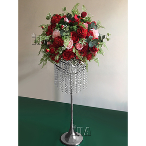 wedding decoration and wedding occasion event and party item type artificial flower ball and flower centerpieces red color