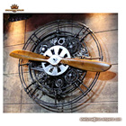 House and restaurant Iron propeller metal art crafts coffee bar decoration for interior home