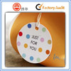 custom logo rounded hang tag