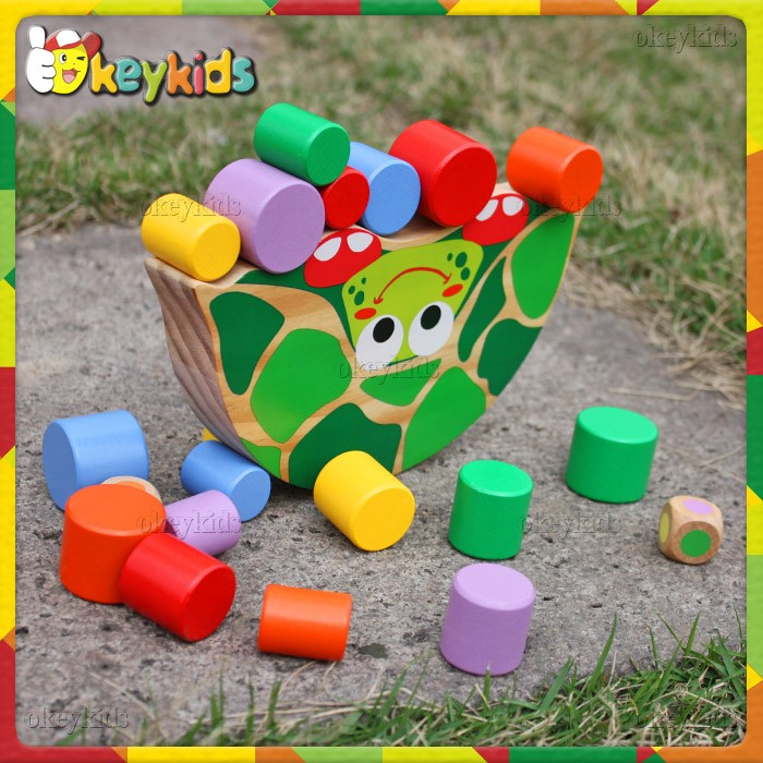 Most popular multi color wooden blocks toy for babies W11F049