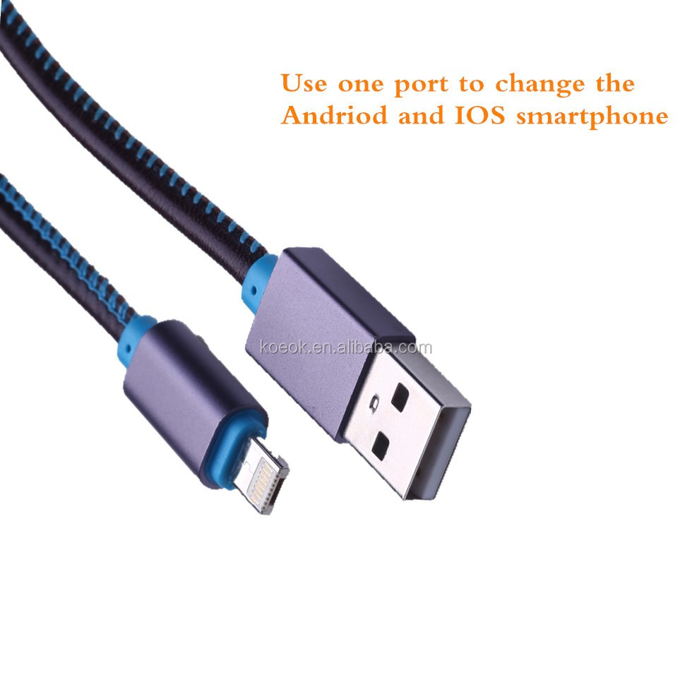 2016 New Leather 2 In 1 Usb Cable With One Plug,Charge Cable One ...