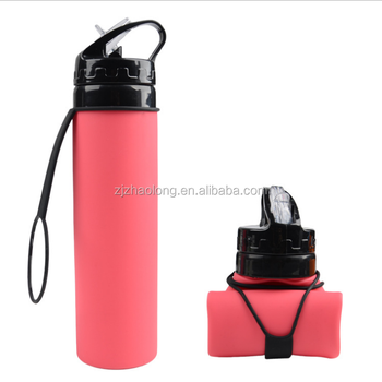 89b114980a New design food grade sport silicone collapsible water bottle bpa fre collapsible  water bottle