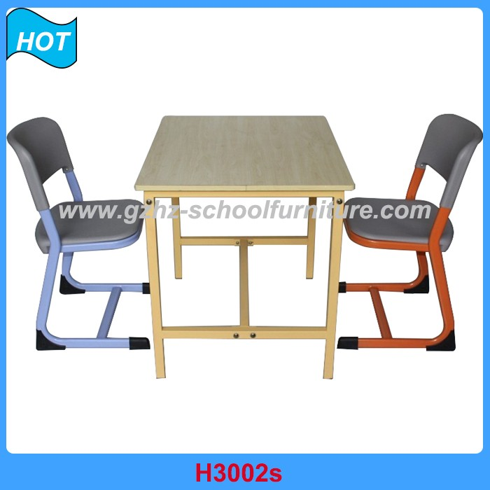 Fashion School Library Furniture Children Reading Desk and Chair