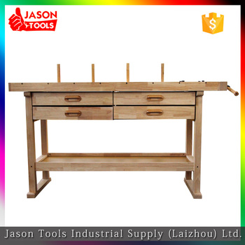 Wood Top Table Board Durable Work Bench With Bench Vice Buy