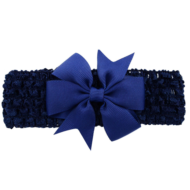 Girls Bowknot Hair Band Double Usage Detachable Elastic Baby Bows With Clip Head Band Hair Accessories