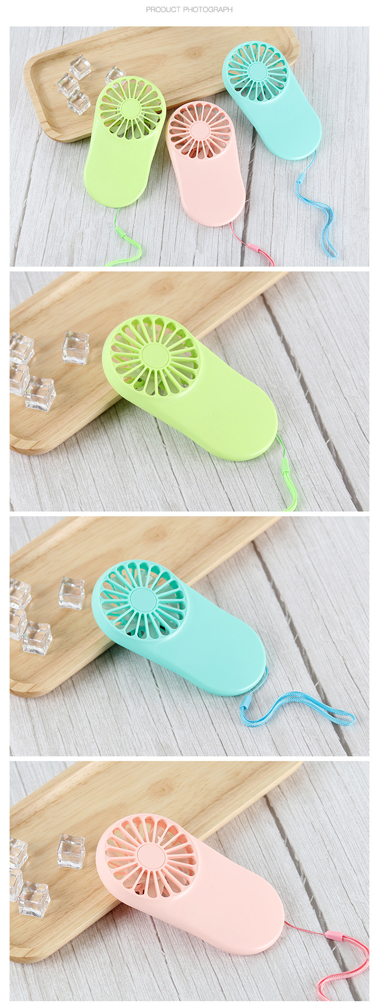 New pocket fan usb charging mini handheld fan student outdoor with lanyard