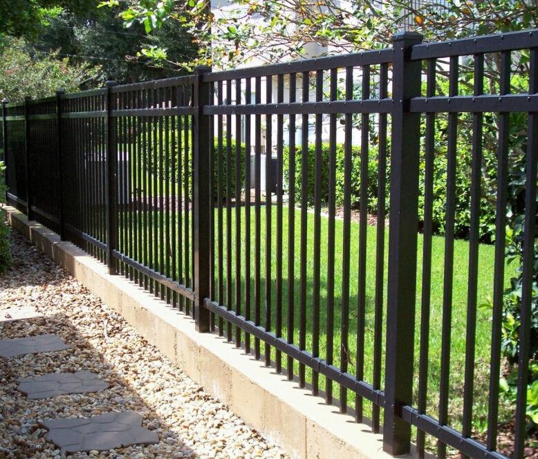 Ornamental wrought iron fence prefab panels