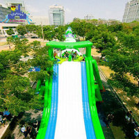 1000 ft slip n slide best quality customized inflatable city slide Good stability giant inflatable water slide for adult