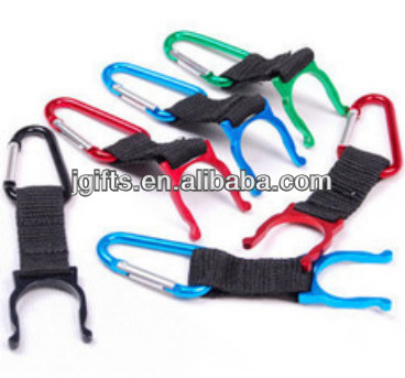 Aluminum water bottle holder carabiner