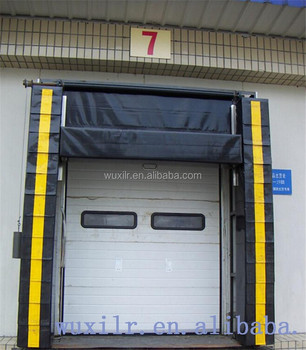 Manufacturer Cold Room Warehouse Cushion Dock Seal With Top Curtain