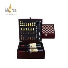 Morez Wine Opener and Chess Set Wine Bottle Opener Tool Kit with Chess Set Gift Box Best Bar Wine Accessories and Gifts