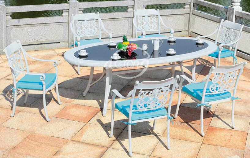2015 aluminio fundido ocio dise o de metal muebles de for Diseno de muebles de jardin al aire libre