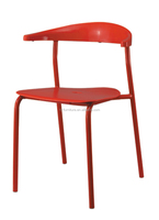 Plastic seat chair/Cheap metal dining chair/Discount