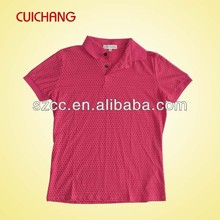 wholesale heat transfer/silk screen print polyester/cotton custom design jersey polo shirts MQF-072