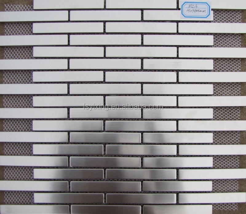 Metal Brick Mosaic Tiles Mi19 For Decorative Metal Brick Tile ...
