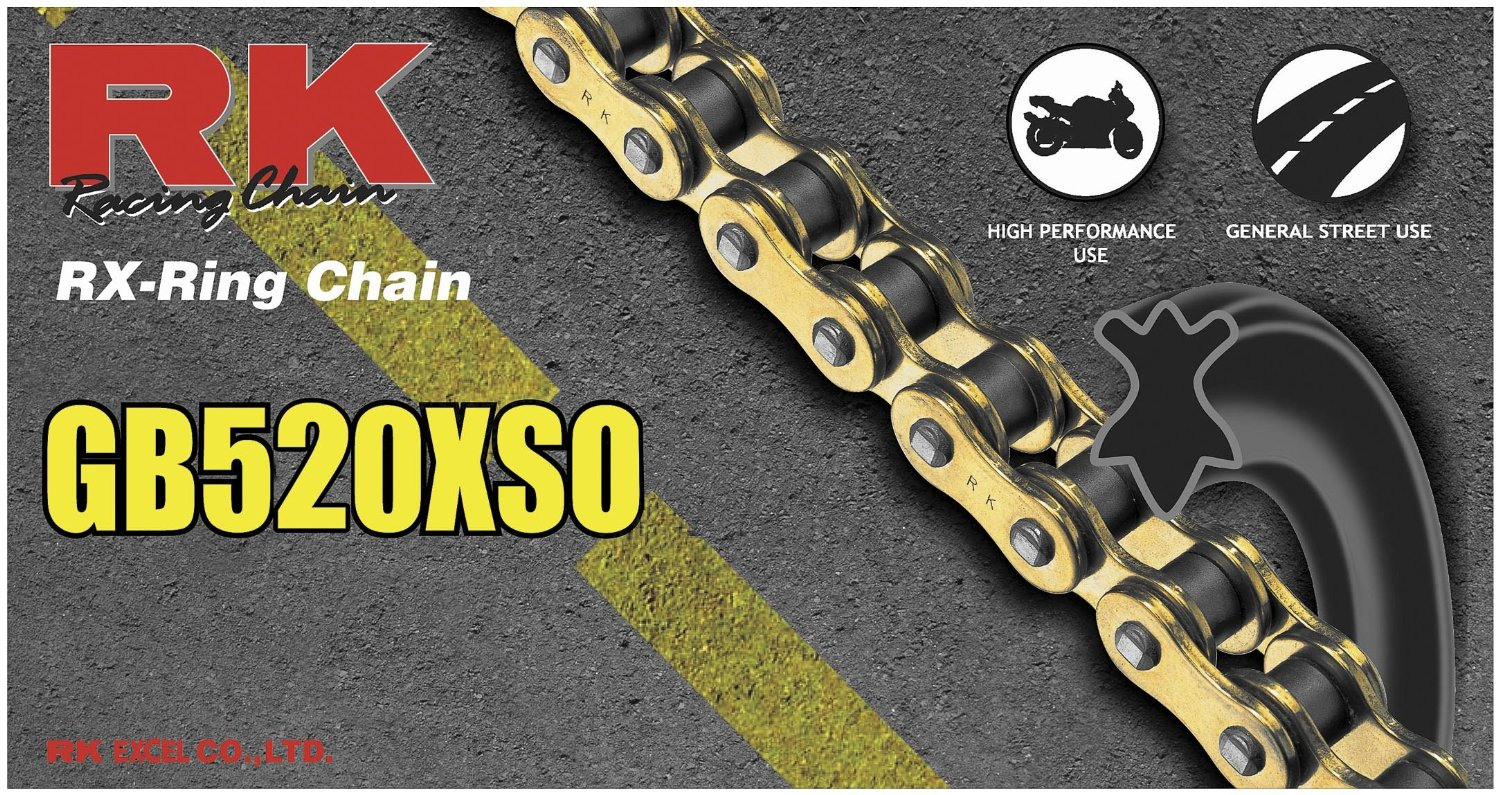 RK 520 XSO GB RX-Ring Chain - 110 Links , Chain Type: 520, Chain Length: 110, Chain Application: All GB520XSO-110