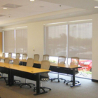 Blackout bedroom motorized roller blinds shades, semi-blakout china electric remote blind shades for office