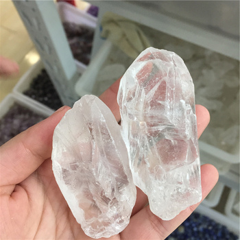 Bulk Wholesale Rough Clear Quartz White Crystal Gravel Tumbled Stones
