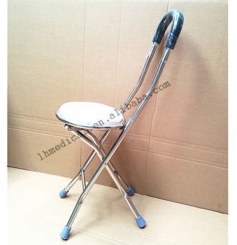 Portable stainless steel chair folding walking stick & Portable Stainless Steel Chair Folding Walking Stick - Buy Portable ...