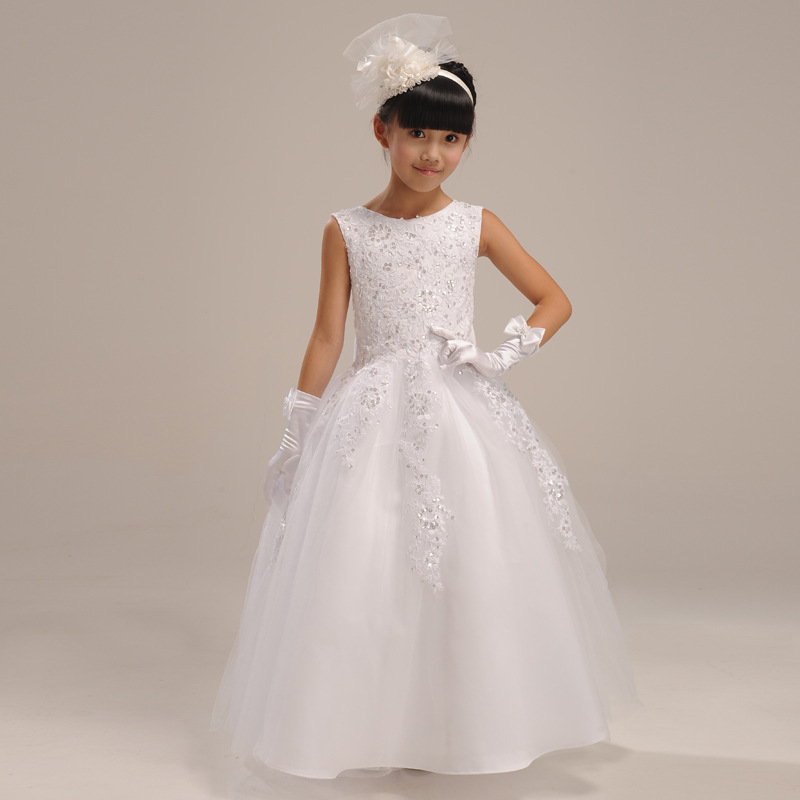 2016 Kids Flower Baby Girl font b Dress b font Bridesmaid Clothes Lace Ball Gown font