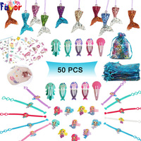 Hot Selling 50 Packs Mermaid Themed Party Favors Toys Assortment Mermaid Party Supplies for Girls Birthday