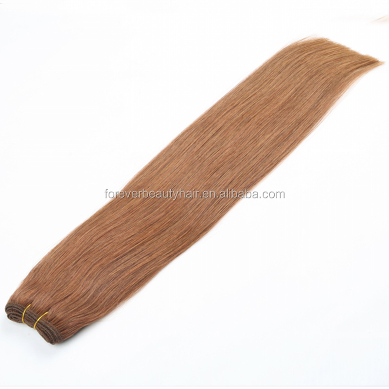 Top Fashion Stock Peruvian Virgin Brown Hair Weave Color #4