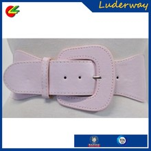Popular big pink elastic fabric web satin sash belt for girls