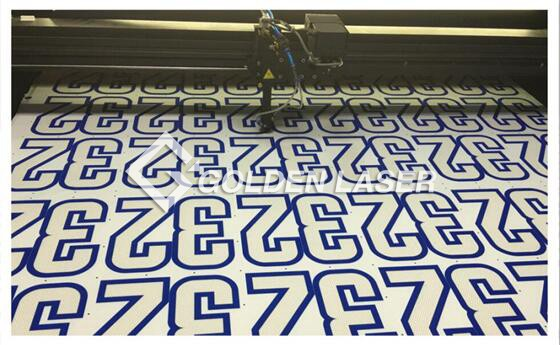 CAM Camera Laser Cutter for Tackle Twill Logos, Numbers