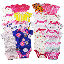 Retail 0-2yrs 5pcs/pack short-Sleeved Baby Infant cartoon bodysuits for boys girls jumpsuits Clothing 2014 new free shipping