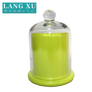 LXSX-112M colorful decorative wholesale dome glass bell cloche candle jars