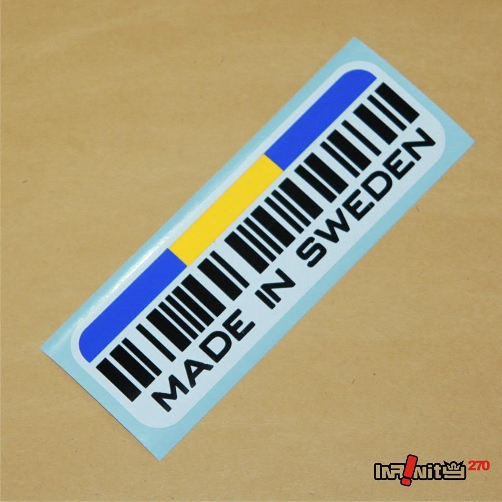 Made Sweden sticker decal euro dtm bumper bimmer roadster coupe sedan drift racing motorsports