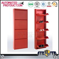 Modern shoe cabinet metal shoe disply cabinet home center