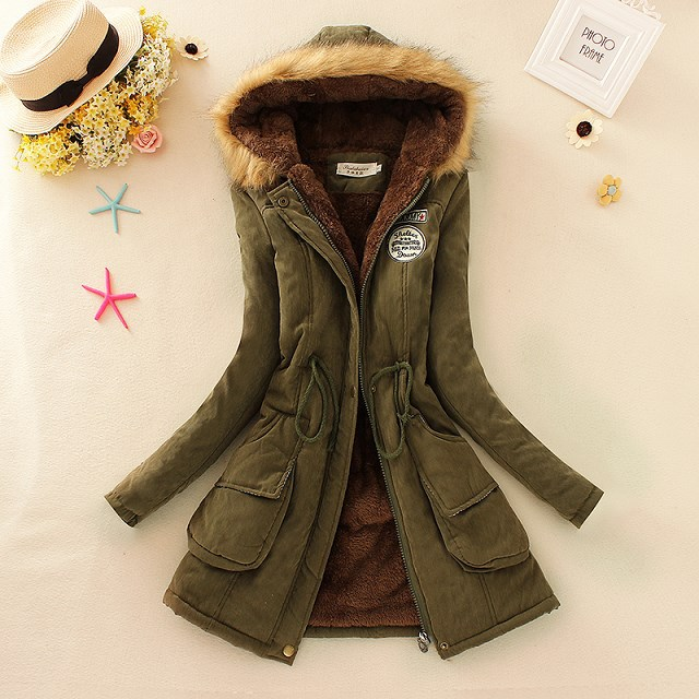 High quality fashion 13 colors <strong>women</strong> warm thick Parkas <strong>women</strong> trench coat