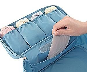 VISKEY Portable Travel Drawer Dividers Closet Organizers Bra Underwear Storage Bag