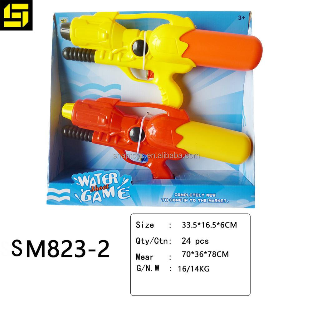 Twin pack Summer Beach Game Water Guns Plastic Realistic Gun water toy
