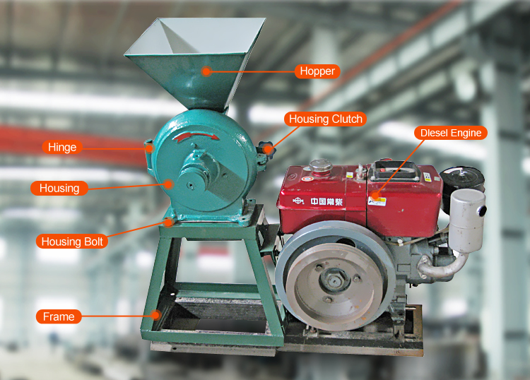 Cheap mini flour mill price diesel engine flour mill