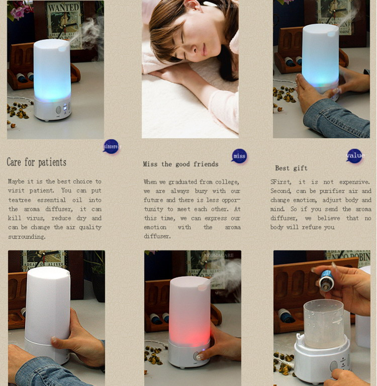 Hot Sale Wholesale Promotional Essential Oil Diffusers 100ML Electric Humidifier Diffuser
