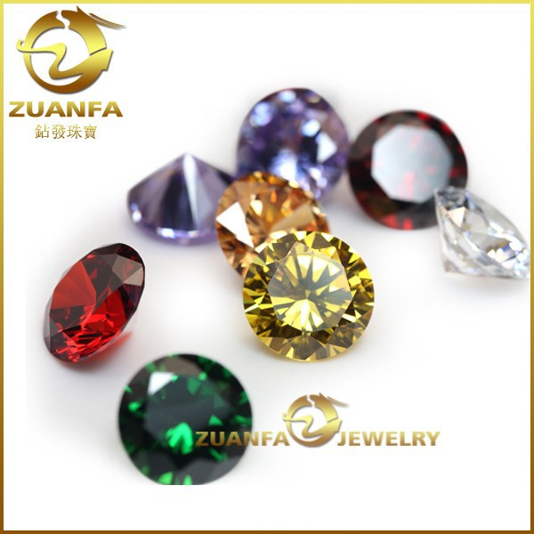 China Wuzhou High quality cubic zirconia prices Round Color CZ