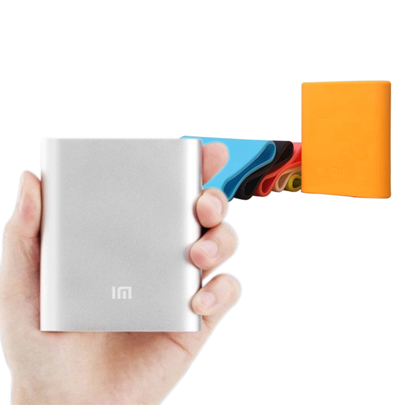 Original Xiaomi Power Bank xiao mi 10400mAh Portable External Battery Xiao mi Charger + Silicone Cover for 10400mAh Power Bank