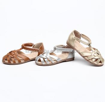 e25fa6d32 GBBAO2142 Summer Beach Shoes fancy girls genuine leather sandals kids