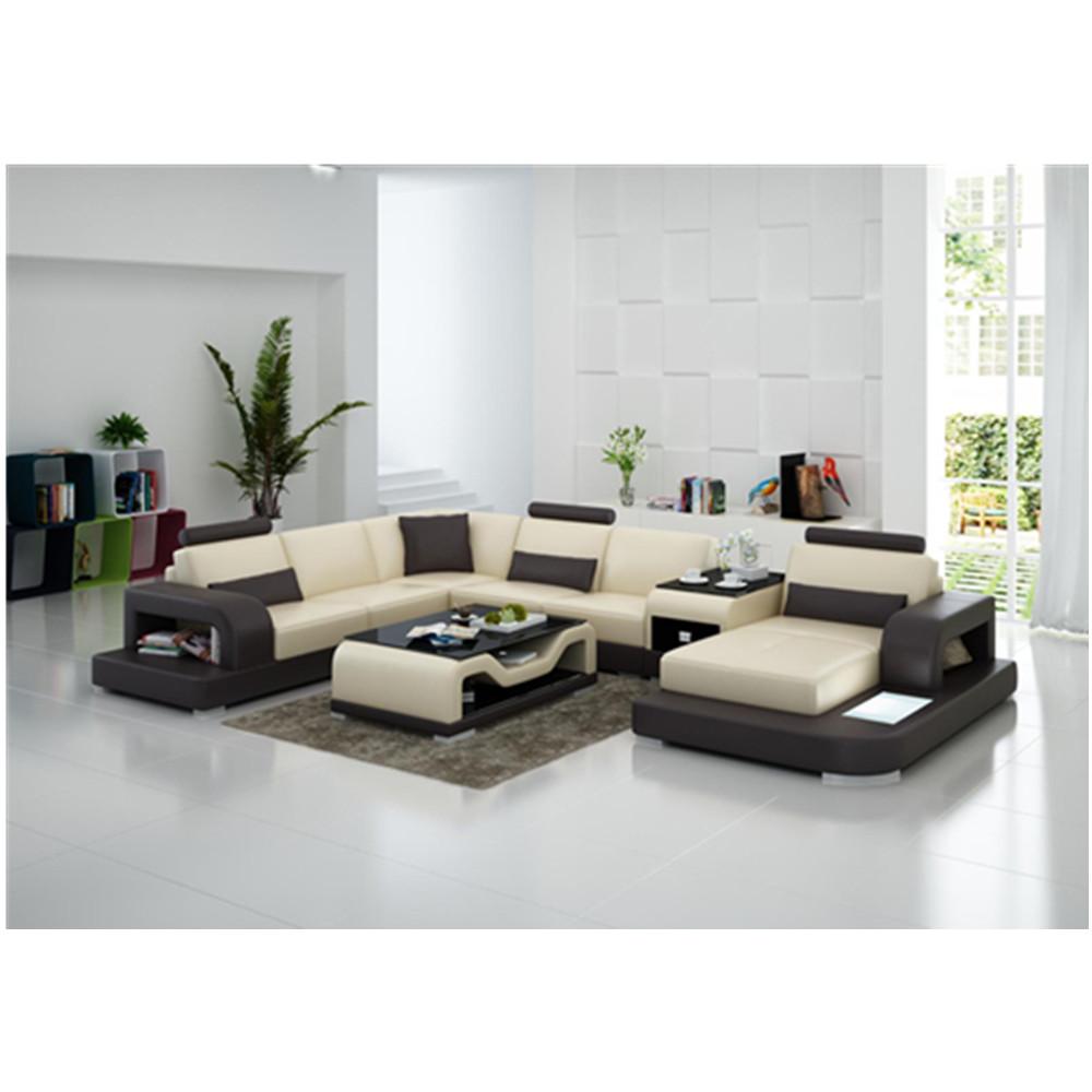 - Modern Mini Small Corner Full Set Leather Sofa - Buy Leather Sofa