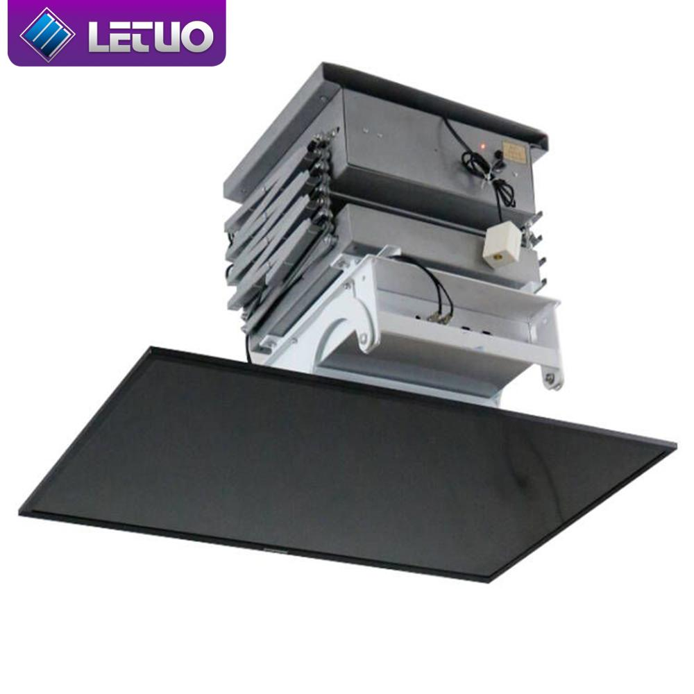 Letuo cm64e motorized tv ceiling mounts up and down tv for Motorized flip down tv mount