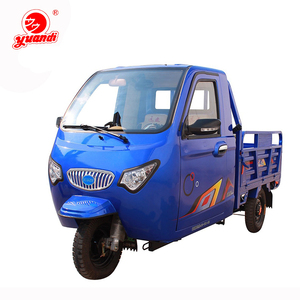Three Wheel Cargo Gasoline Hybrid Electric Tricycle with Cabin