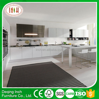 Simple Design White Melamine Kitchen Cabinet With