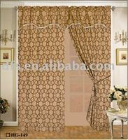 Jacquard Curtain with Fringe Valance