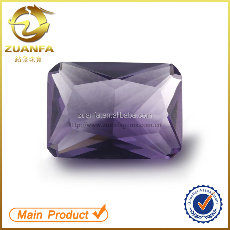 wholesale factory bulk rectangle cut 13x18mm colored competitive price gemstone