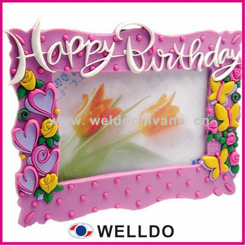Birthday Gift 3d Soft Pvc Beautiful Photo Frame Buy Beautiful