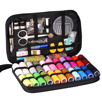 Travel Sewing Kit with 97 Sewing Accessories 24 Spools of Thread -24 Color Mini sewing kit