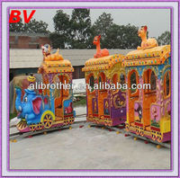 Promotional shopping mall kiddy games electric track train equipment