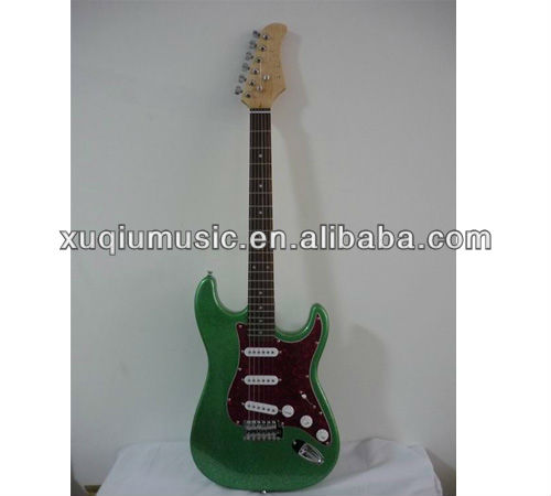 electric guitar with rosewood fretboard,professional ST style electric guitar